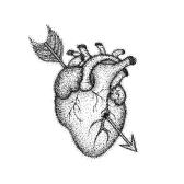 Heart With Arrow Dotwork