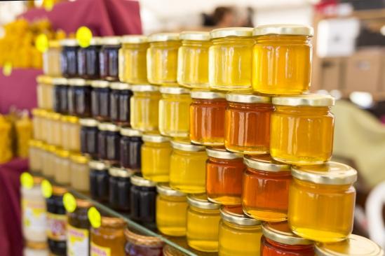 Different Jars Of Honey