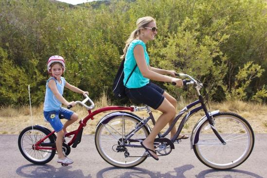 Enjoying A Family Bike Ride